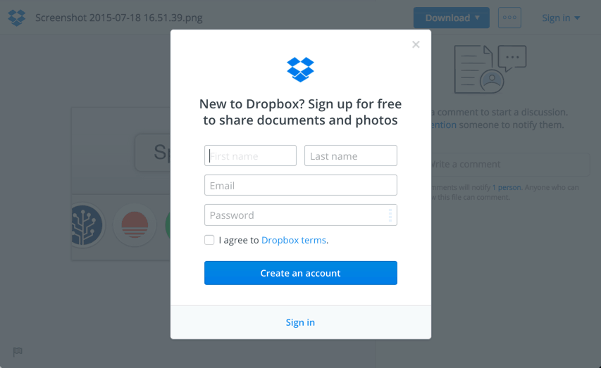 new to dropbox