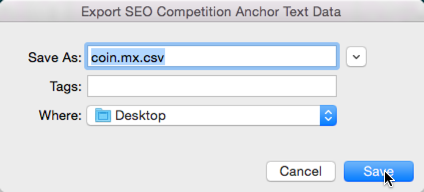 saving anchor data